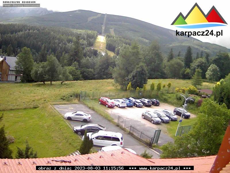 Śnieżka z ośrodka Halny